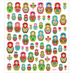 Sticker King - Clear Stickers - Russian Dolls