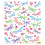 Sticker King - Clear Stickers - Dragonflies in Glitter