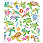 Sticker King - Clear Stickers - Sea Turtles - Glitter