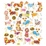 Sticker King - Clear Stickers - Dogs in Sweaters