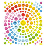 Sticker King - Clear Stickers - Happy Face Glitter