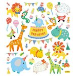 Sticker King - Clear Stickers with Glitter Accents - Zoo Birthday