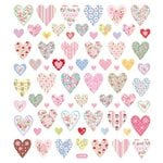 Sticker King - Clear Stickers with Glitter Accents - Floral Hearts