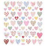 Sticker King - Clear Stickers - Floral Hearts