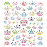 Sticker King - Clear Stickers - Bejeweled Crowns