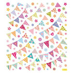 Sticker King - Clear Stickers with Glitter Accents - Pennant Flags