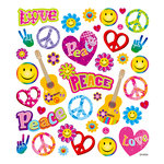 Sticker King - Cardstock Stickers with Glitter Accents - Peace Out