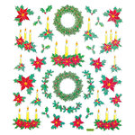 Sticker King - Clear Stickers - Christmas - Traditional Wreath and Candles