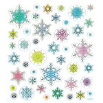 Sticker King - Clear Stickers - Snowflakes in Pastel