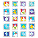 Sticker King - Cardstock Stickers - Silver Squares