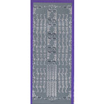 Sticker King - Cardstock Stickers - Border in Silver