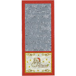 Sticker King - Cardstock Stickers - Merry Christmas Happy New Year in Silver