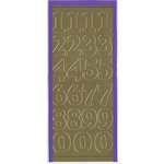 Sticker King - Cardstock Stickers - Numbers in Gold - Large