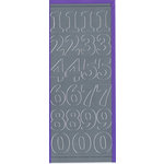 Sticker King - Cardstock Stickers - Numbers in Silver - Large