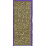 Sticker King - Cardstock Stickers - Alphabets Capital in Gold