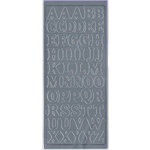 Sticker King - Cardstock Stickers - Alphabets Capital in Silver