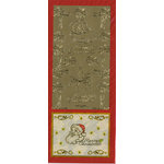 Sticker King - Cardstock Stickers - Santa and Leaves in Gold