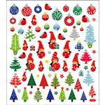 Sticker King - Cardstock Stickers - Christmas Gnomes and Trees