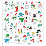 Sticker King - Clear Stickers - Glitter Snowmen