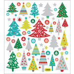 Sticker King - Clear Stickers - Glitter Christmas Trees