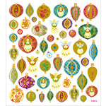 Sticker King - Clear Stickers - Christmas - Glitter Ornaments