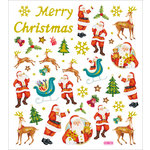 Sticker King - Clear Stickers - Glitter Merry Christmas