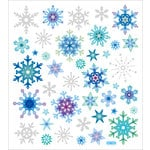 Sticker King - Clear Stickers - Glitter Snowflakes