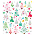 Sticker King - Clear Stickers - Christmas - Glitter Trees