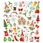 Sticker King - Clear Stickers - Christmas - Glitter Holiday Magic