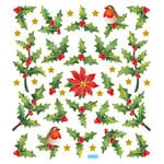 Sticker King - Clear Stickers - Christmas - Holly Berries and Birds