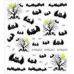 Sticker King - Clear Stickers - Halloween - Bats Galore