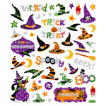 Sticker King - Cardstock Stickers - Halloween - Witches Hats