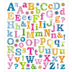 Sticker King - Clear Stickers - Tropical Letters
