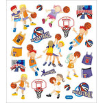 Sticker King - Clear Stickers - Basketball