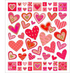 Sticker King - Clear Stickers - Red Love Hearts