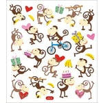Sticker King - Clear Stickers - Love Monkeys