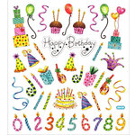 Sticker King - Clear Stickers - Happy Birthday Celebration
