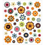 Sticker King - Cardstock Stickers - Orange Flowers