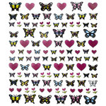 Sticker King - Clear Stickers - Butterflies and Hearts