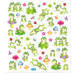 Sticker King - Clear Stickers - Spotted Frogs