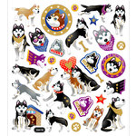 Sticker King - Clear Stickers - Huskies