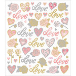 Sticker King - Cardstock Stickers - Love and Roses