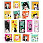 Sticker King - Cardstock Stickers - Pretty Kittys