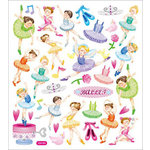 Sticker King - Clear Stickers - Ballerinas
