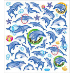 Sticker King - Clear Stickers - Dolphin Fun