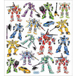 Sticker King - Clear Stickers - Faux Transformers