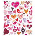 Sticker King - Cardstock Stickers - Love Birds with Hearts