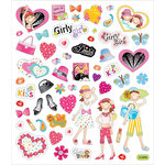 Sticker King - Cardstock Stickers - Girly Girls