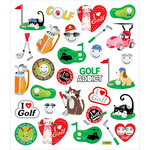 Sticker King - Cardstock Stickers - Golf Addiction