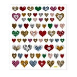 Sticker King - Cardstock Stickers - Animal Print Hearts